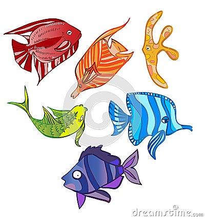 Rainbow emotional fish