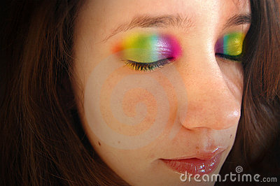 Rainbow Eyelids Royalty Free Stock Images - Image: 15681229
