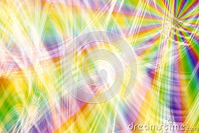 Rainbow Fireworks Burst