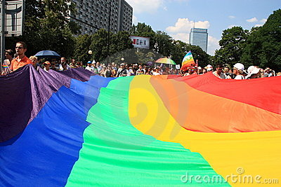 Rainbow flag Editorial Photo