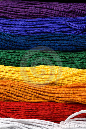 Rainbow of Floss - Macro