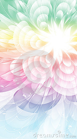 Rainbow flower closeup.