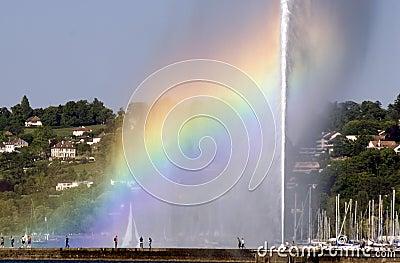 Rainbow and Fountain