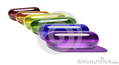 Rainbow Gel Pills - Horizontal