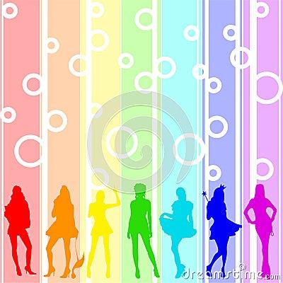 Free Rainbow Girls Royalty Free Stock Photos - 5128768