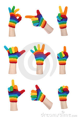 Rainbow Gloves Gesturing
