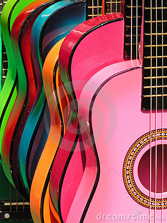 Free Rainbow Guitars Stock Photography - 1013012