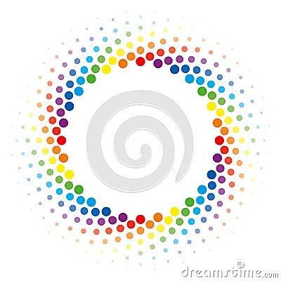 Free Rainbow Halftone Swirl Circle Frame Vector Design Element. Royalty Free Stock Photos - 93961968