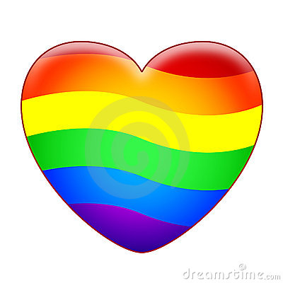 Free Rainbow Heart Stock Images - 18279724
