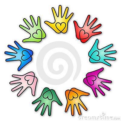 Free Rainbow Heart Hands Stock Images - 18344924