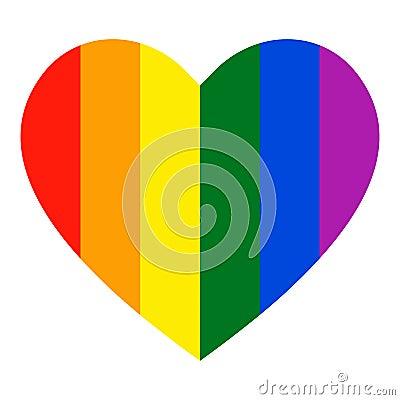 Free Rainbow Heart Icon. LGBT Flag, Symbol Royalty Free Stock Photography - 138258097
