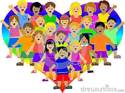 Rainbow Heart Kids/eps