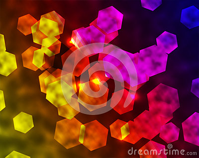 Rainbow Hexagonal Background