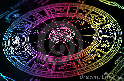 Rainbow horoscope wheel chart