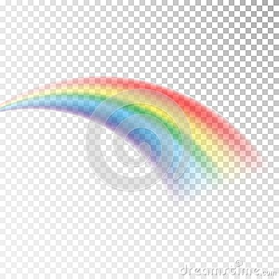 Free Rainbow Icon. Colorful Light And Bright Design Element For Decorative. Abstract Rainbow Image. Vector Illustration Isolated On Tra Stock Photo - 108539730