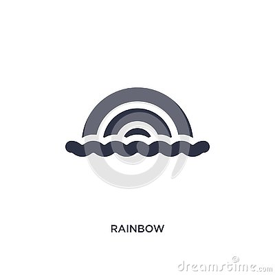 rainbow icon on white background. Simple element illustration from brazilia concept Vector Illustration