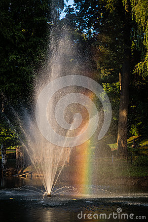 Free Rainbow In A Fountain Royalty Free Stock Photo - 48309665