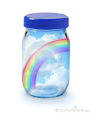 Free Rainbow In A Jar Stock Photos - 14537633