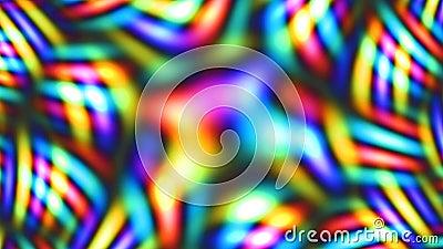 Rainbow Kaleidoscope Bokeh Pattern and Bright Lights - 4K Animação de fundo do movimento de movimentos sem costura ilustração do vetor