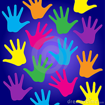 Free Rainbow Kids Hands Stock Images - 17599914