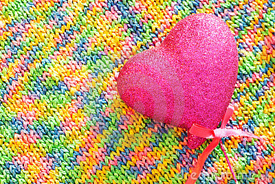 Rainbow knitted texture