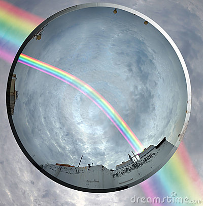 Rainbow and the lens
