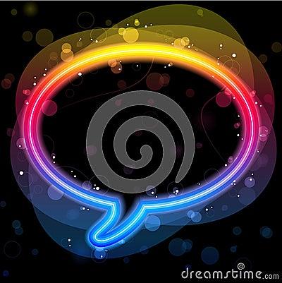 Rainbow Lights Speech Bubble
