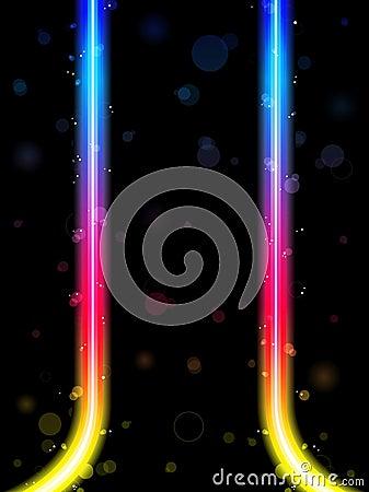 Rainbow Lines Border with Sparkles