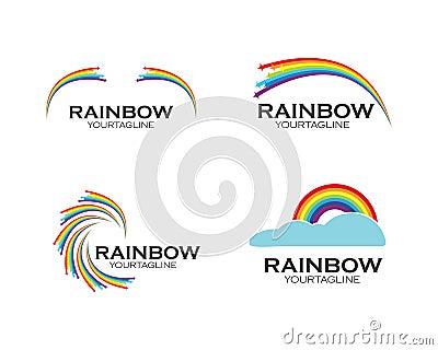 rainbow logo icon vector template Vector Illustration