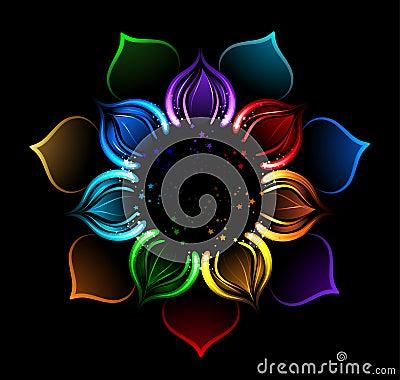 خلفيات ملونه فلاشيه Rainbow-lotus-iridescent-petals-painted-bright-sparks-black-background-33916195
