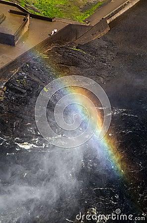 Rainbow at Montmorency Falls