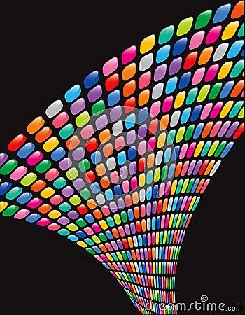 Rainbow mosaic squares twist