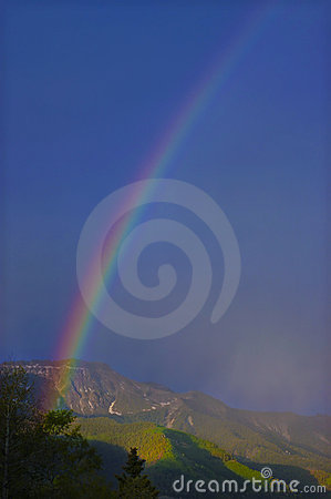 Rainbow in the Mountains, Colorado