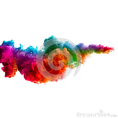 Free Rainbow Of Acrylic Ink In Water. Color Explosion Royalty Free Stock Photo - 41248305