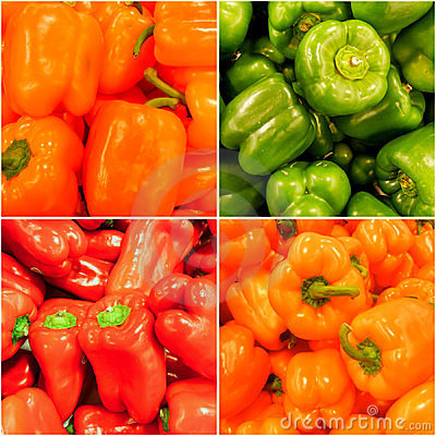 Free Rainbow Of Hot Peppers Stock Photo - 23443990