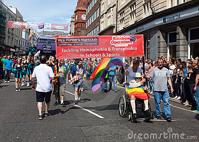 Rainbow Operations in Brighton Gay Pride 2011 Editorial Stock Photo