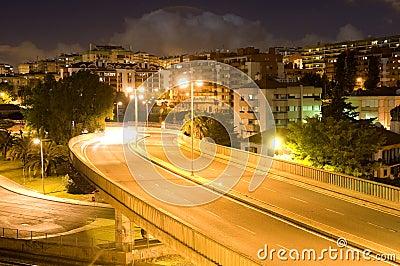 Overpass_Lights_Nightfall Urban Scenery_Rainbow or Hallo