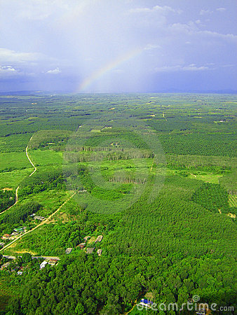 Rainbow over Krabi, Thailand