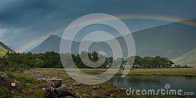 Rainbow over Loch Etive