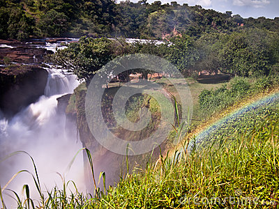 Rainbow over the Murchison falls