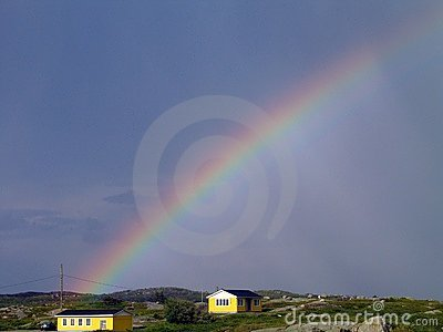 Rainbow over Peggy s Cove