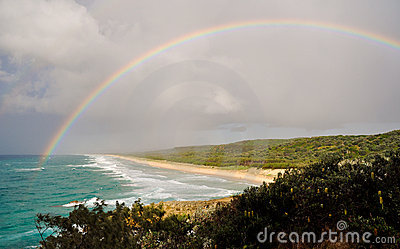 Rainbow over Point Lookout