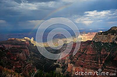 Rainbow over Roosevelt Point