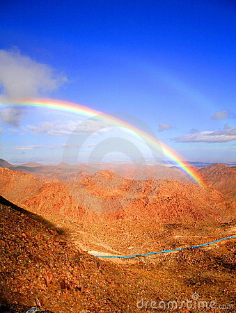 Rainbow over the rumorosa