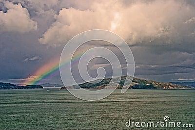 Rainbow over San Francisco Bay