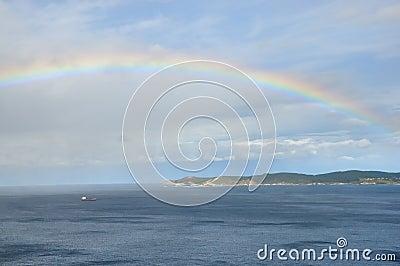 Rainbow over sea no.2