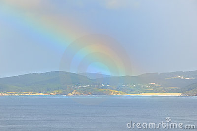 Rainbow over sea no.3