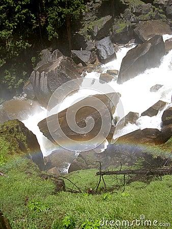 Rainbow over Vernal Falls in Yosemite