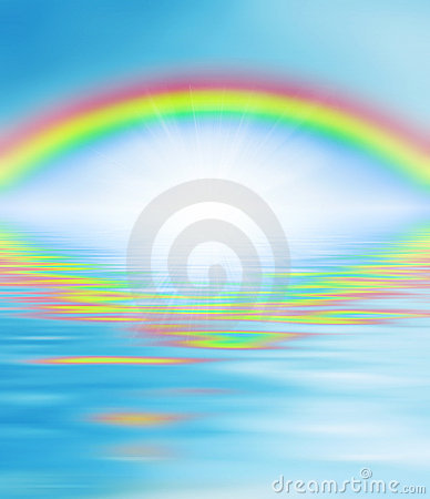 Rainbow over the waters - religion, wisdom eye