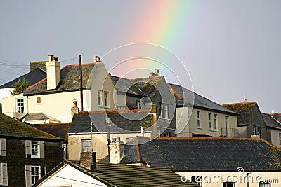 Rainbow overhead